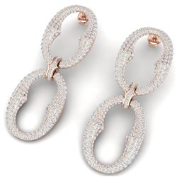 7 CTW Certified VS/SI Diamond Earrings 18K Rose Gold - REF-436R4K - 40065