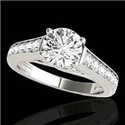 1.5 CTW H-SI/I Certified Diamond Solitaire Ring 10K White Gold - REF-176T4X - 34898