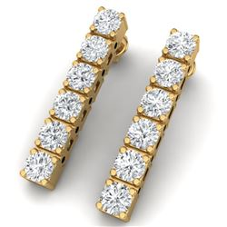 3 CTW Certified VS/SI Diamond Earrings 18K Yellow Gold - REF-240W2H - 39913