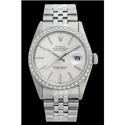 Rolex Ladies Stainless Steel, Index Bar Dial with Diamond Bezel, Saph Crystal - REF-349M3H