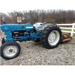 FORD 4000 TRACTOR & BRUSH CUTTER