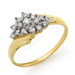 0.25 CTW Certified VS/SI Diamond Ring 14K Yellow Gold - REF-31M5F - 13593