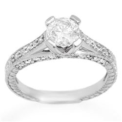 1.50 CTW Certified VS/SI Diamond Ring 18K White Gold - REF-285Y2N - 11444