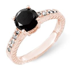 2.05 CTW Vs Certified Black & White Diamond Solitaire Ring 14K Rose Gold - REF-74R9K - 14065