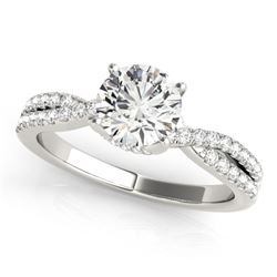 0.80 CTW Certified VS/SI Diamond Solitaire Ring 18K White Gold - REF-131H6W - 27879