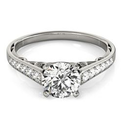 0.85 CTW Certified VS/SI Diamond Solitaire Ring 18K White Gold - REF-110Y8N - 27510