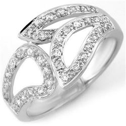 0.33 CTW Certified VS/SI Diamond Ring 18K White Gold - REF-56N9Y - 10779