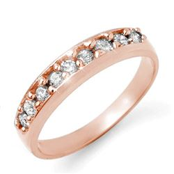 0.50 CTW Certified VS/SI Diamond Ring 18K Rose Gold - REF-70H4W - 12826