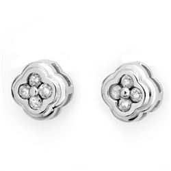 0.50 CTW Certified VS/SI Diamond Earrings 14K White Gold - REF-47H3W - 10516