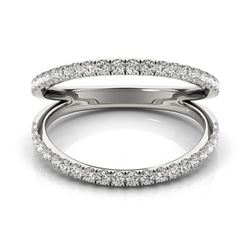 0.33 CTW Certified VS/SI Diamond Designer Fashion Ring 18K White Gold - REF-60H8W - 28271
