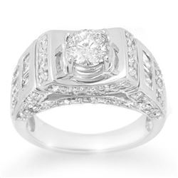 2.05 CTW Certified VS/SI Diamond Ring 14K White Gold - REF-278F8M - 10711