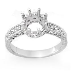 0.50 CTW Certified VS/SI Diamond Ring 18K White Gold - REF-64K5R - 11022