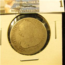 1774 SILVER MEXICAN 2 REALES