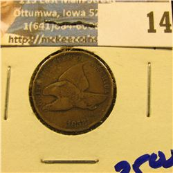 1858 SMALL LETTERS FLYING EAGLE PENNY