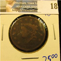1826 CORONET HEAD LARGE CENT WITH FULL LIBERTY