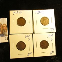 2 1917-S , 1915-S, AND 1916-S WHEAT PENNIES