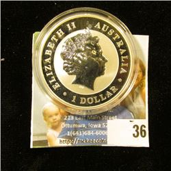 ONE OUNCE SILVER KOALA FROM AUSTRALIA DATED 2012