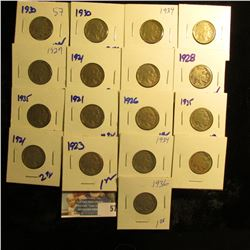 17 DATED BUFFALO NICKELS ALL FOR ONE MONEY