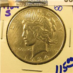 1934-S SEMI KEY DATE PEACE DOLLAR