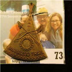 KALAMAZOO TRAIL MEDAL .. FRUIT BELT AREA COUNCIL BOYSCOUTS OF AMERICA KALAMAZOO, MICHIGAN
