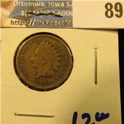 1863 COPPER NICKEL INDIAN HEAD PENNY