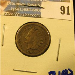 1864 COPPER NICKEL INDIAN HEAD PENNY