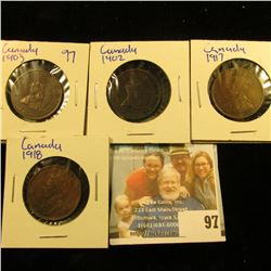 1902, 1903, 1917, AND 1918 CANADIAN LARGE CENTS