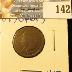 1873 OPEN 3 INDIAN HEAD PENNY