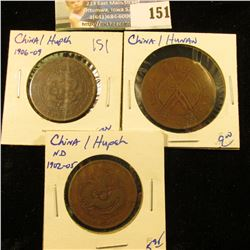 CASH COIN LOT FROM CHINA/HUPE PROVINCE 1902-1905 ANF FROM CHINA/HUNAN DISTRICT