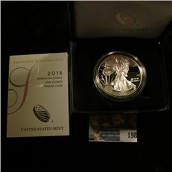 2015 SILVER PROOF AMERICAN EAGLE FROM THE WEST POINT MINT