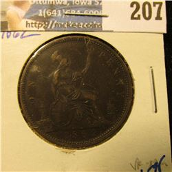 1862 BRITISH LARGE CENT.  THIS IS A NICE UPGRADE COIN FOR YOUR SET