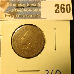 1873 CLOSED 3 INDIAN HEAD PENNY