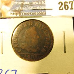 FRENCH STATES COIN NEVERS & RETHEL DATED 1609