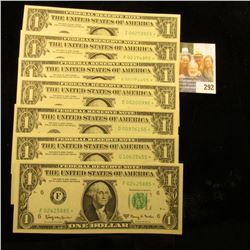 7 HIGH GRADE STAR NOTES DATED 1963 IN CONSCUTIVE ORDER