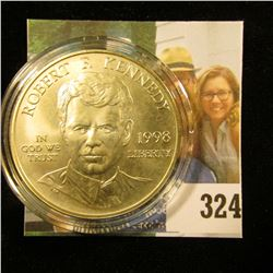"""1998 S United States of America Justice Gem BU Silver depicting """"Robert F. Kennedy"""", encapsulated."""