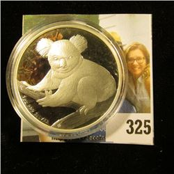 "2009 Australia Proof One Ounce .999 Fine Silver Dollar in a holder with COA from ""Collectible Americ"