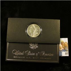 """""""United States of America Genuine U.S. Mint Coinage"""" holder containing a 1921 Denver Mint U.S. Silve"""