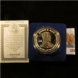 """2005 """"Inaugural Silver Proof…Struck by The Washington Mint, contains one full ounce of .999 pure sil"""