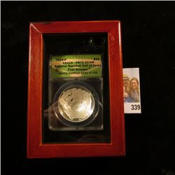 2014 P U.S. National Baseball Silver Dollar Hall of Fame Commemorative First Release  slabbed MS 70