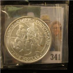 "2003 ""The Sovereign Nation of the Shawnee Tribe, ""Lewis.Clark.Drouillard One Dollar"", Gem BU, With c"