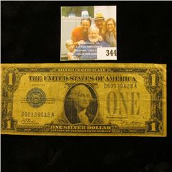 """Series 1928 U.S. One Dollar Silver Certificate """"Funny Back""""."""