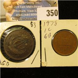 1941 Half Penny & 1978 Great Britain One Penny.