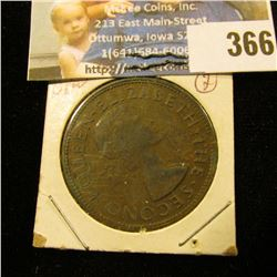 1955 New Zealand One Cent.