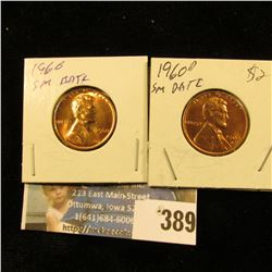 1960 P & D Small date Red Gem BU Lincoln Cents.
