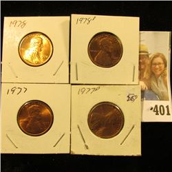 1977 P, D, 78 P, & D Red Gem BU Lincoln Cents.
