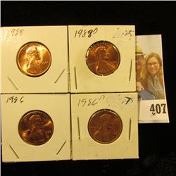 1986 P, D, 88 P, & D Red Gem BU Lincoln Cents.