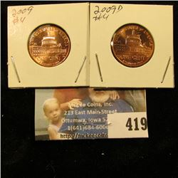 2009 P & D Capitol Red Gem BU Lincoln Cents.