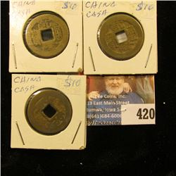 (3) China Cash Coins.