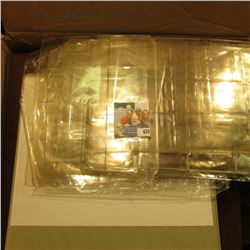 (3) Ring Notebooks, Display Sheets, and various Coin or Stock display material in a cardboard box.