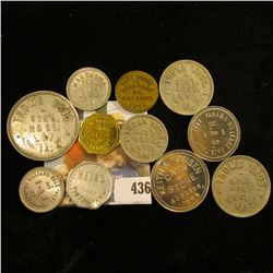 Group of (12) different Good For Tokens, Iowa, Wyoming, etc.